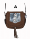 Annie Stokes Wolf & Maiden Suede effect Cross Over Side Bag Available in 3 Designs.